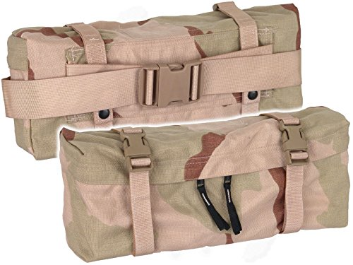 - New US Army Military Genuine Issue GI Surplus Molle II Waist Butt Hip Fanny Training Field Pack Bag Desert 3C Camo (Bag with DESERT Buckle)