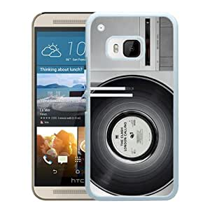 Grace Protactive Classic Retro Vinyl Record Turntable White Case Cover for HTC ONE M9