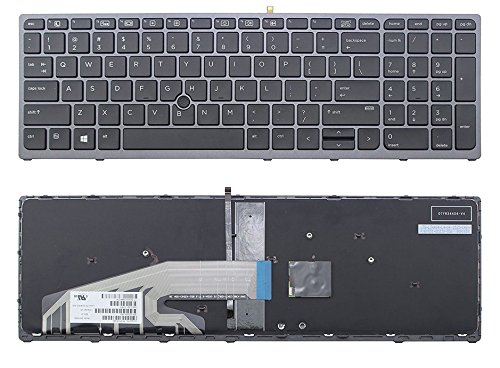 (ndliulei New US Layout Laptop Backlit Keyboard (with Frame) Compatible HP Zbook 15 G3 17 G3 848311-001 Light Backlight Black Notebook US)