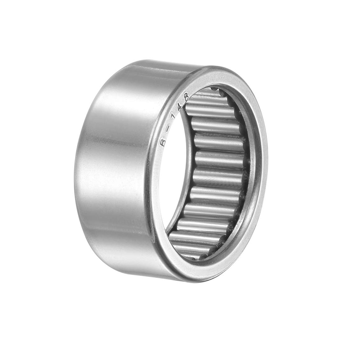 7//8-inch I.D Open 1-1//8-inch OD 1-inch Width 14400N Static Load 7040N Dynamic Load 4800Rpm Limiting Speed uxcell B1416 Needle Roller Bearings Full Complement Drawn Cup