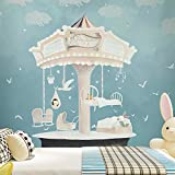 LHDLily Cartoon Fantasy Wallpaper Children'S Room Bedroom Kindergarten Background Wall Wallpaper Mural 350cmX250cm
