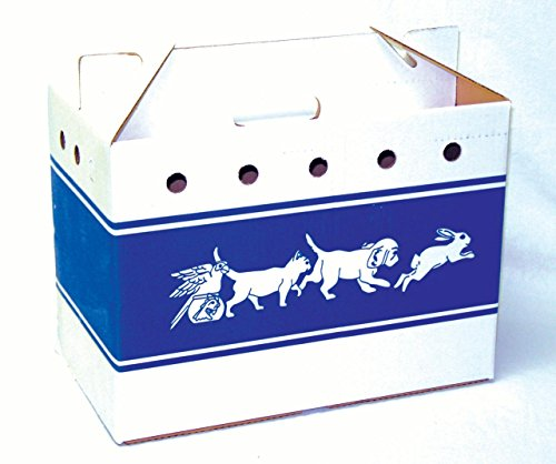 008176 Cardboard Pet Tote Blue/White, 20.5X10.25X13In by PACKAGING CONTROL