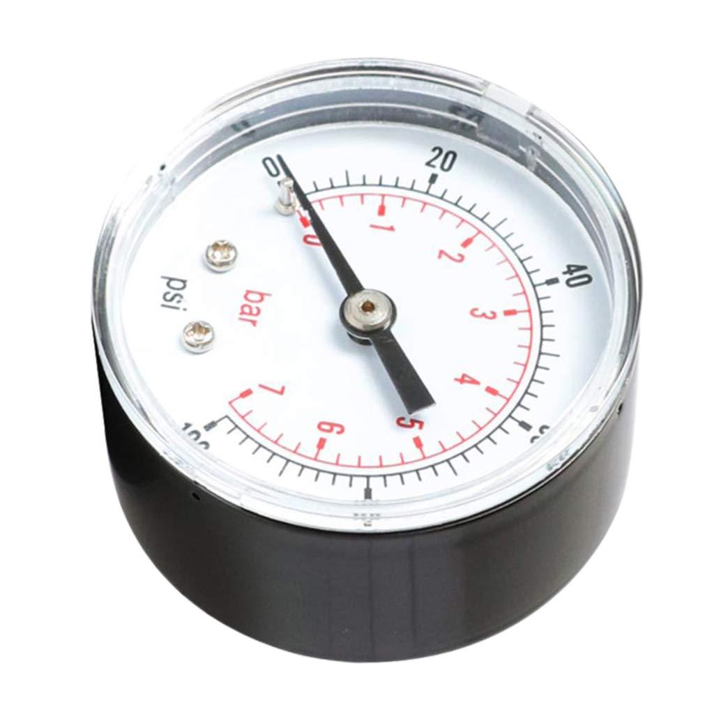 Manometer mit Anschlu/ß 1//8 BSPT Gewinde hinten 0-160 psi 0-11 bar