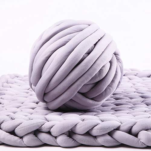 - Bulky Yarn,Super Chunky Yarn Washable Roving for Arm Knitting Extreme Knitting (Light Grey)