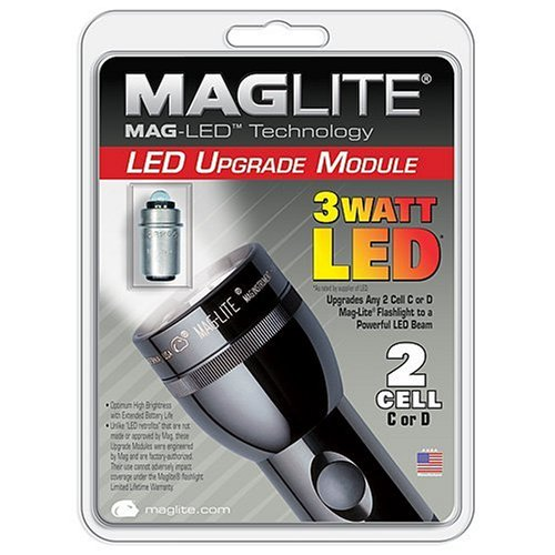 Mag-Lite SH32DCW6J 3-Watt LED 2-C/D Cell Flashlight Upgrade Module
