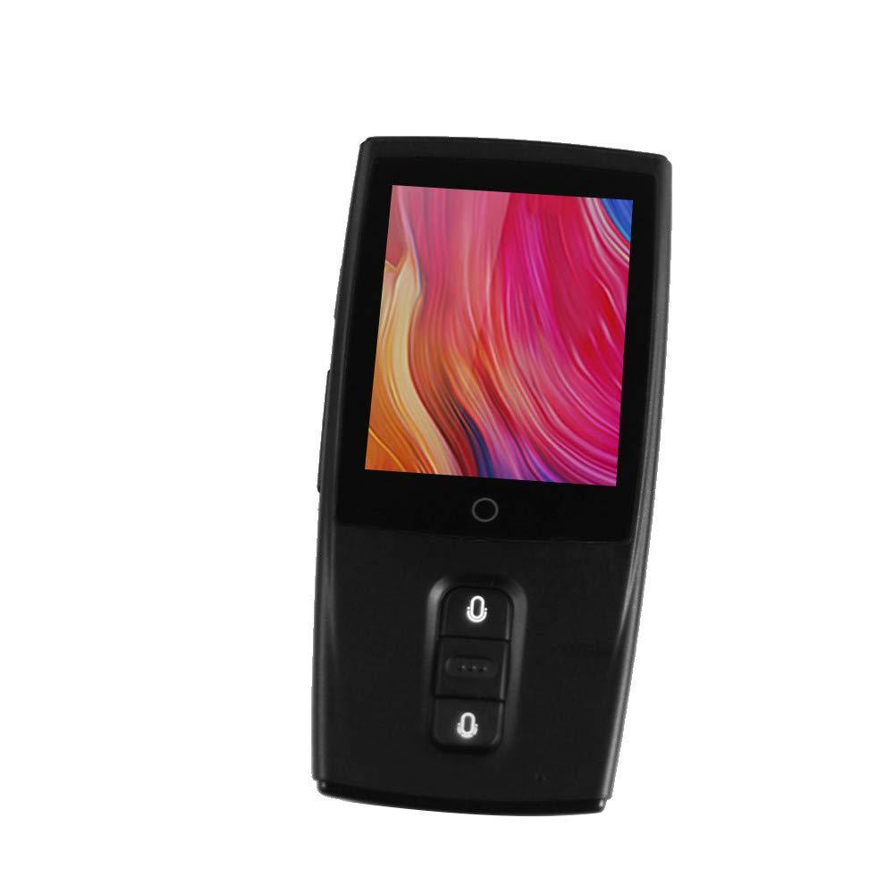Ecurson 2.4'' Smart Instant Smart Voice Translator Real Time WiFi 43 Languages Speech Translation Machine (Black)