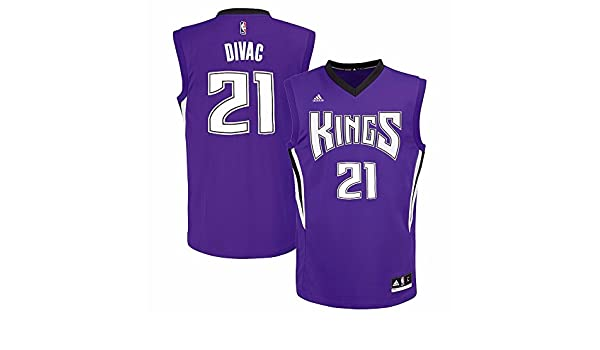 916a61053649 Amazon.com Vlade Divac Sacramento Kings NBA Adidas Mens Purple Replica  Jersey Package - mail cheap jerseys!Los Angeles Lakers ...