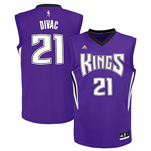 adidas Vlade Divac Sacramento Kings NBA Men's Purple Replica Jersey – DiZiSports Store