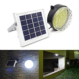 51cUHNf49OL. SS300  - ROXY-G2 Solar LED Indoor/Outdoor Light, Lithium Battery, Day/Night Sensor, Auto On/ Off, 3-Level Brightness, 15ft Cable, for Balcony / Garage / Workshop / Cabin / Shed Light