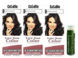 Cosamo -Love Your Color- Ammonia & Peroxide Free Hair Color #765 Medium Brown (Pack of 3) with One Jarosa Beauty Bee Organic Peppermint Lip Balm 100% All Natural Deep Moisturizing Usda Certified
