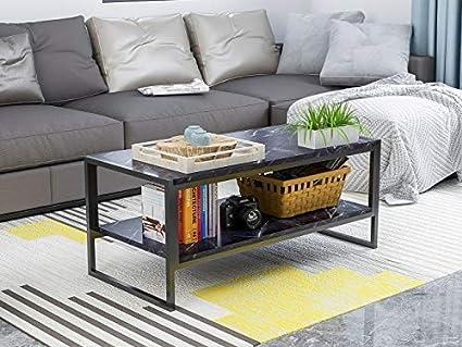 McNeil 42u0027u0027 Marble Look 2 Tier Coffee Table Tea Snack Cocktail Sofa Side