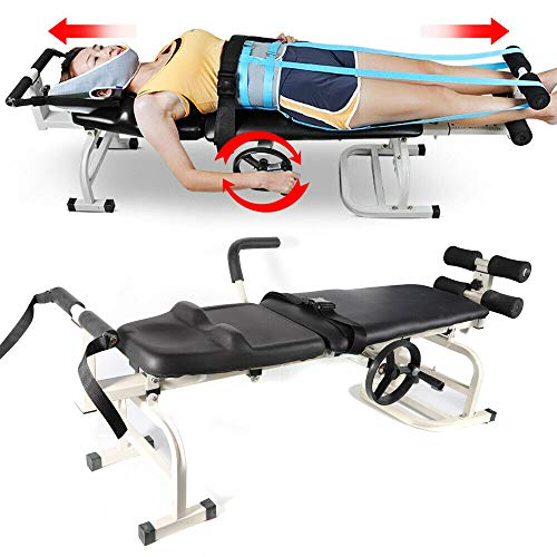 Great Shoulder Cold Therapy System WANLECY Cervical Traction Device, Home Therapy Massage Spine Lumbar Inversion Bed Table Traction Unit for Back, Leg Stretching Pain Therapy System Device 2019