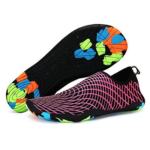 Xylylyl Wasser Schuhe Männer und Frauen multifunktionale leichte flexible atmungsaktiv schnell trocken Strand Aqua Haut Socken rot