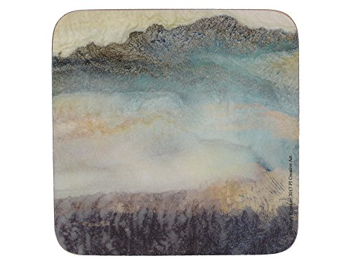 Creative Tops 'Lustre Mineral' Printed Square Cork-Backed Drinks Coasters, 10.5 cm - Multi-colour (Set of - Lustre Jug
