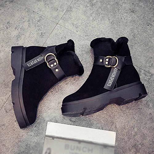 Da Di Caviglia Spessore Cancellare Stivali Caldo Nero moda Sneaker Donne Gomma Donna Inverno Piattaforma TZwRcqPX