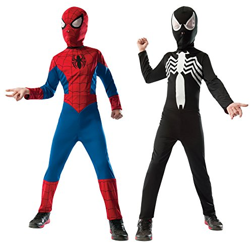 [Boys Halloween Costume-Spiderman Reversible Kids Costume Large] (Reversible Spiderman Costumes)