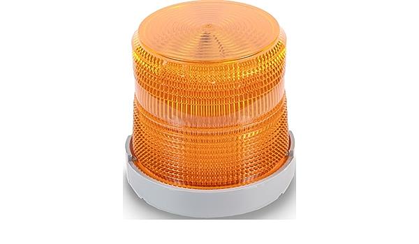 White Edwards Signaling 48XBRMW24D Xtra-Brite LED Multi-Mode Beacon Polycarbonate//ABS Blend Base 24V DC