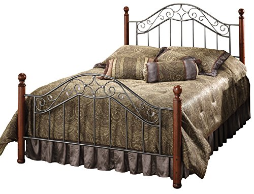 Hillsdale Furniture 1392BQR Martino Bed Set with Rails, Queen, Smoke Silver