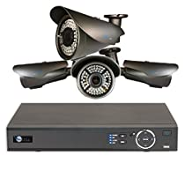 4 HD 1080P Varifocal 2.8-12mm Security Bullet IR 200ft Night Vision HD Kit for Business Professional Grade