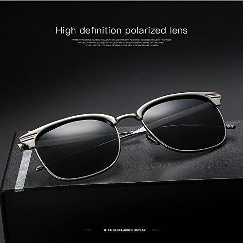 gafas playa z de Polarizadas sol para calle hombre de Gafas 2017 gafas mujer Estilo viajes Frank conducir nueva fashion Retro Sol UV400 7xZqRRd