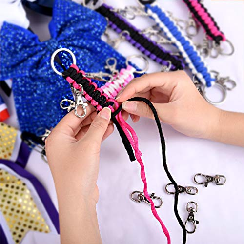 Cheer Bow Display,Bag Cheerleading Accessories White Handmade Paracord Cheer Bow Holder for Teens Girls School Sport