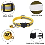 6 Pack Reflective Cat Collar with Bell and Safety