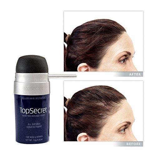 Top Secret Hair Thickening Fibers - Compact Design! Black (.25 OZ.) by Top Secret (Image #8)