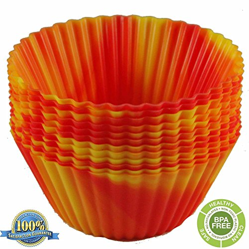 The Original Premium Quality Tie Dye Silicone Cupcake Liners