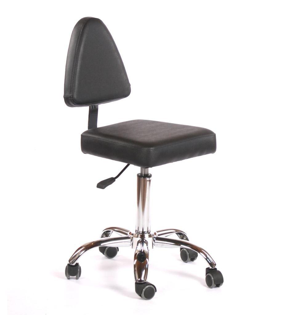 Urbanity Milan Hairdressing Beauty Nail Technician Salon Chair Stool Black