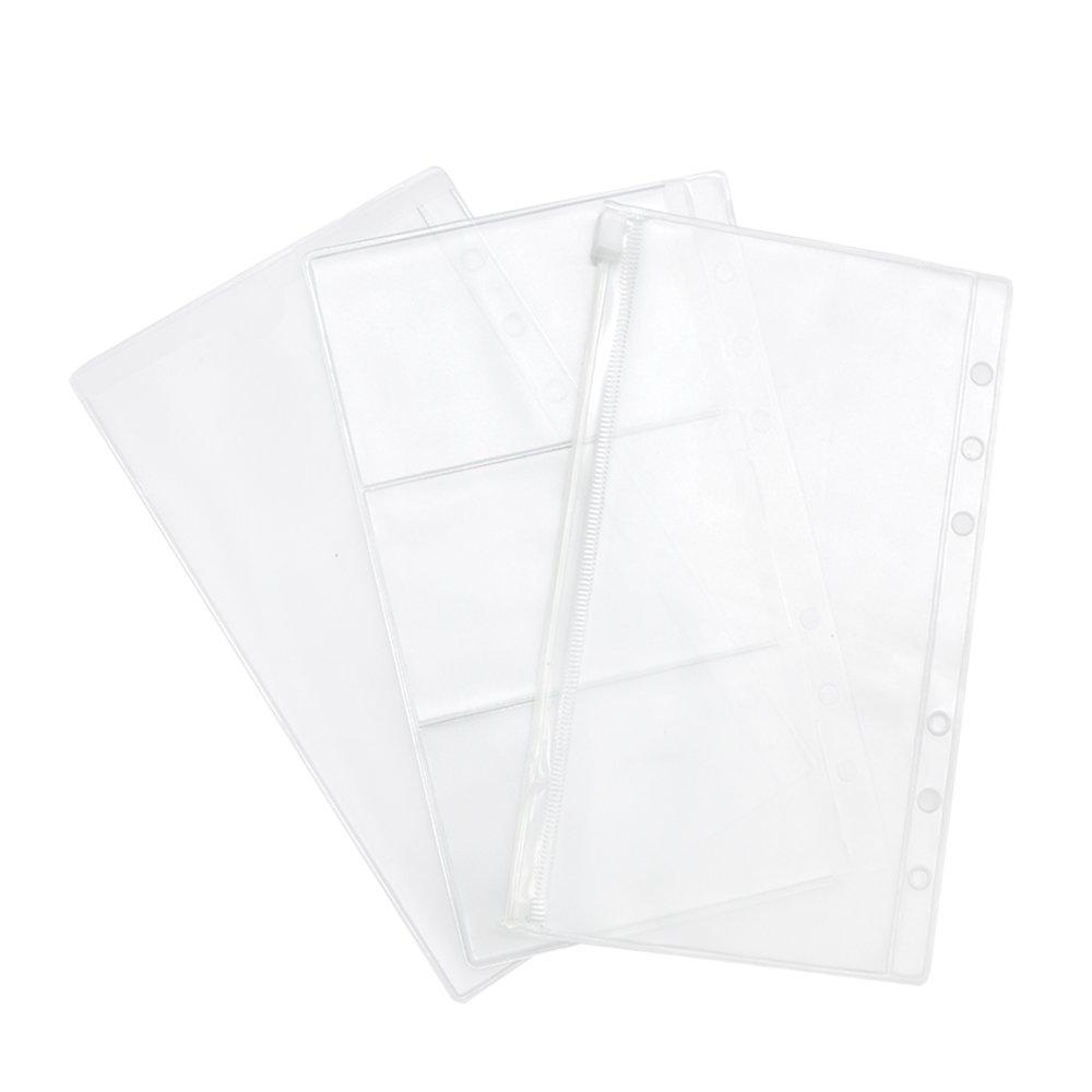 70%OFF EzSos PVC Binder Pocket, Clear Business Card Storage Bag, 6 ...