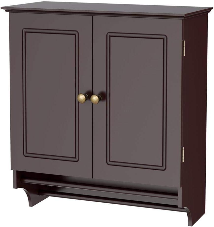 go2buy Wall Mounted Medicine Cabinet Kitchen Bathroom Wooden Hanging Storage Organizer, Espresso