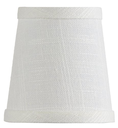 Mini Chandelier Shade Clip On Small Lamp shade White Linen