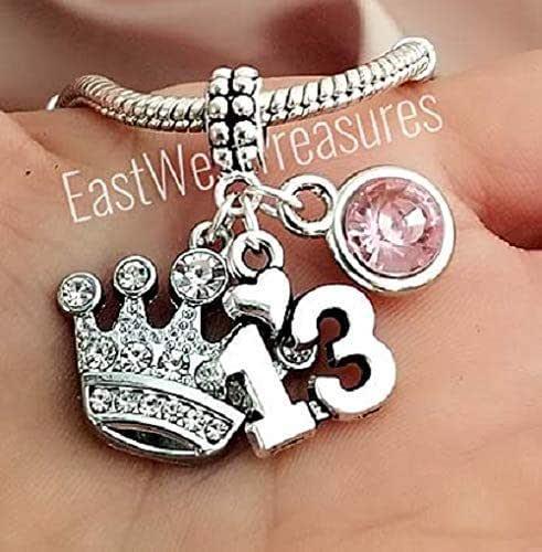 Girl Turning 13 Charm Bracelet Personalized Birthstone Teenager Gift 13th Birthday Gift Girl Personalized Teenage Girl Birthday Daughter