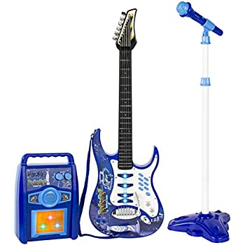 Amazon.com: Bontempi 6 String Electric Guitar with pre-loaded songs ...