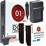 DOT-01 2x Brand Panasonic Lumix DC-GF10 Batteries and Charger for Panasonic Lumix DC-GF10 Mirrorless and Panasonic GF10 Battery and Charger Bundle for Panasonic BLH7 DMW-BLH7