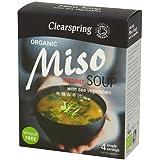 Clearspring Instant Miso Suppe mit Gemüse Meer 4 × 10g
