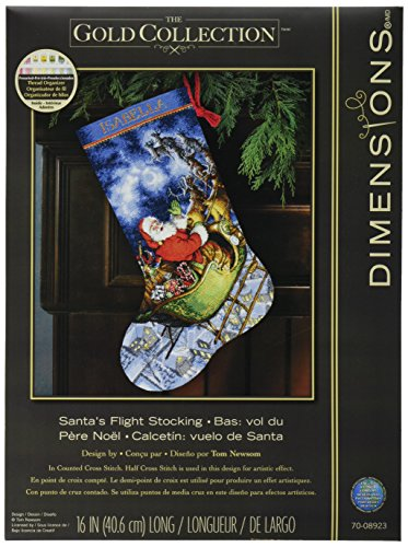 Collection Cross Stitch (Dimensions Crafts Needlecrafts Gold Collection Counted Cross Stitch Stocking Kit, Santa's)