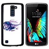 Plastic Shell Protective Case Cover || LG K10 / K420N / K430DSF || Xray Fish Skeleton Art @XPTECH