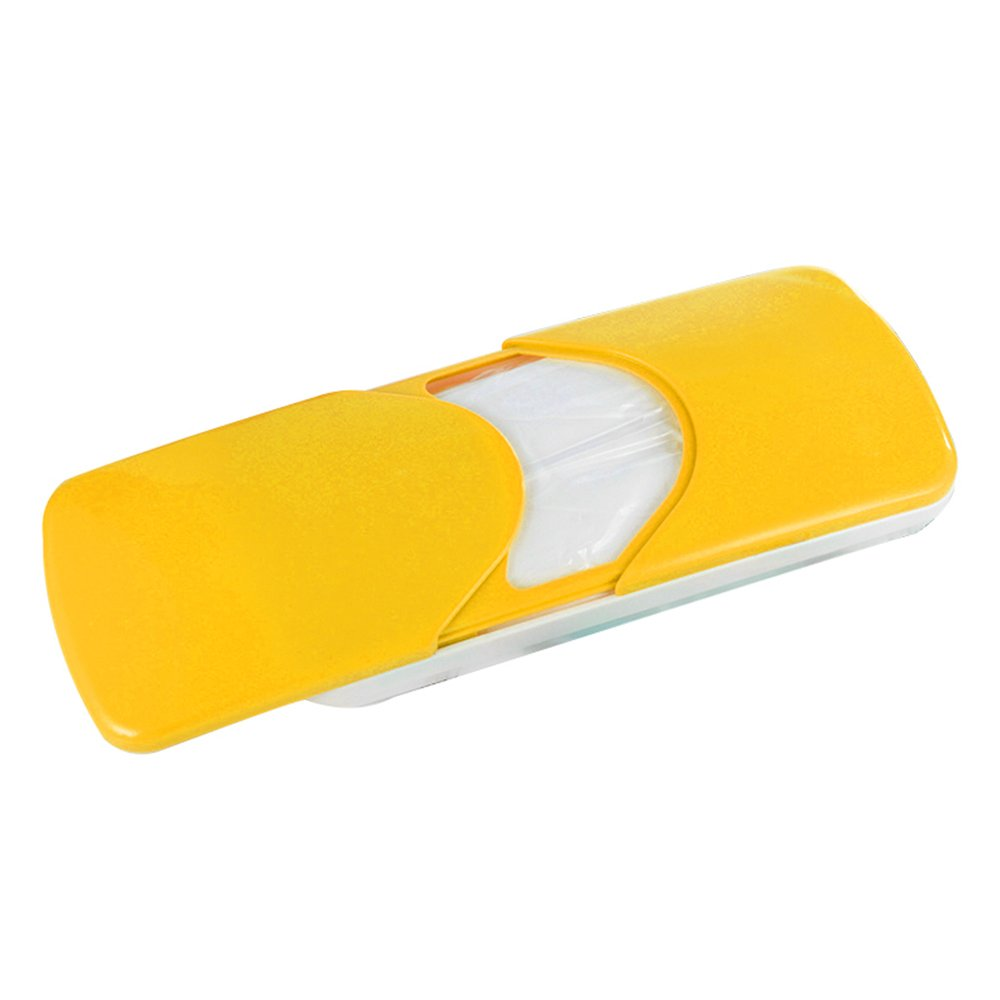 XUEXUE Car Tissue Box Car Tissue Box Plastic Paper Towel (Color : Yellow)