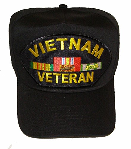(Vietnam Veteran with 4 Ribbons Hat including the Vietnam Cross of Gallantry with Palm Ribbon - Veteran Owned Business)