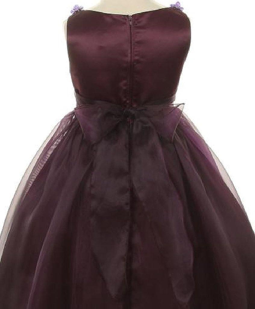 4db7616ac6 Amazon.com  Rosebud Flower Bow Ribbons Little Girl Flower Girls Dresses   Clothing