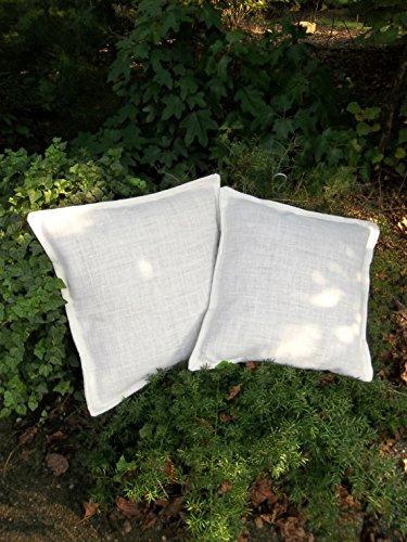pair white burlap pillows custom sizes white pillows decorative pillows white burlap pillow covers throw pillows