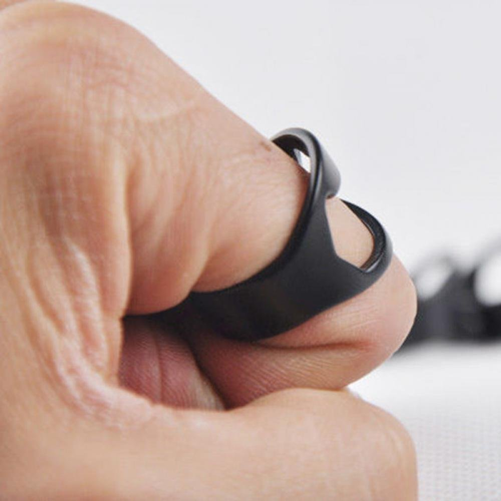 GENENIC 10Pcs Creative Finger Ring Shape Bottle Opener Stainless Steel Beer Bar Versatile Novelty Tool Black