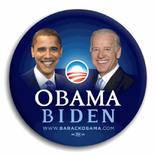 Obama Campaign Buttons - Obama / Biden Official Campaign Button / Pin