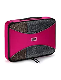 Pro Packing Cubes | LARGE Travel Packing Cube |Ultra Lightweight Luggage Organizer for Travel | Featuring Durable Rip-Stop Nylon and Reliable YKK Zippers (Pink)