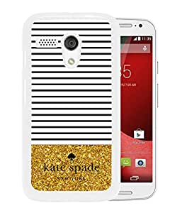 Fashionable And Unique Designed Kate Spade Cover Case For Motorola Moto G White Phone Case 113