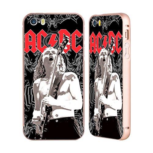 Officiel AC/DC ACDC Angus Young Ornement Solo Or Étui Coque Aluminium Bumper Slider pour Apple iPhone 5 / 5s / SE