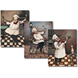 Amazon Com New Happy Fat Chef Prints Kitchen Decor Wall Art