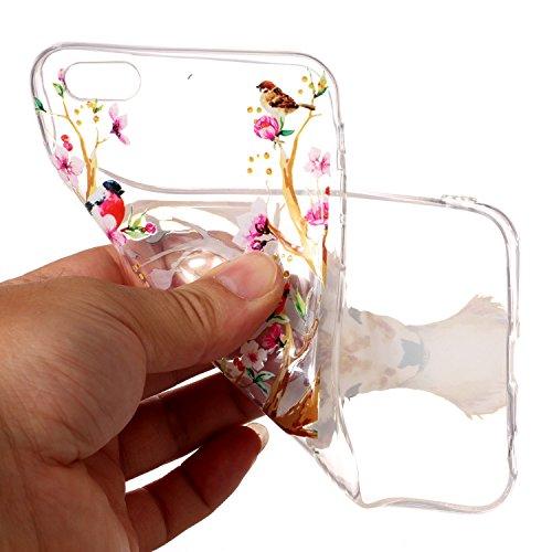 iPhone 6 Plus / 6S Plus Coque cerfs communs Premium Gel TPU Souple Silicone Transparent Clair Bumper Protection Housse Arrière Étui Pour Apple iPhone 6 Plus / 6S Plus + Deux cadeau