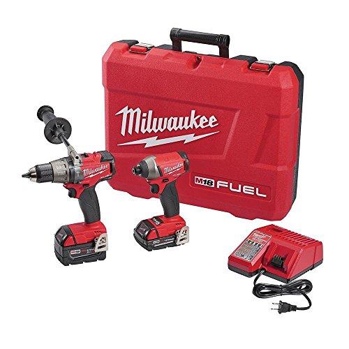 Milwaukee 2897-22CX M18 FUEL 18V Li-Ion Hammer Drill/Impact Driver Combo Kit